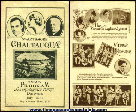 1925 Swaryhmore Chautauqua Theatre / Entertainment Program Booklet