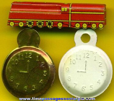 (3) Different Old Cracker Jack Premium / Prize Tin Toys