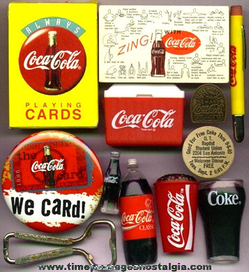 (12) Mixed (Old And New) Coca-Cola Advertising Items