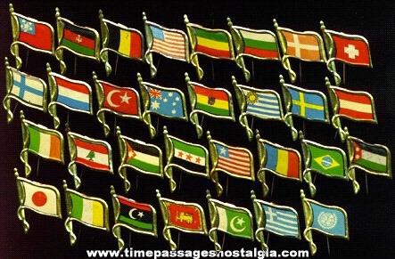(31) Old Tobacco Premium Flag Pins