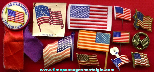 (12) Small United States Flag Items