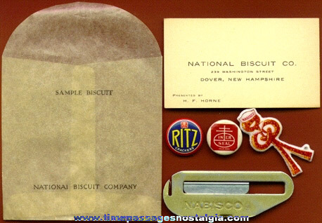 (6) Old NABISCO Company Advertising Items