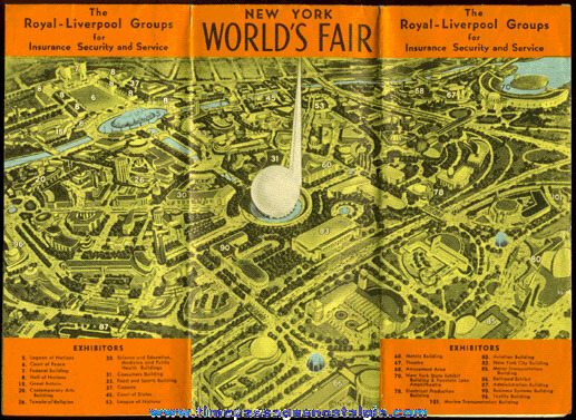 1939 - 1940 NEW YORK WORLD'S FAIR Map