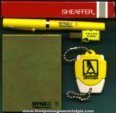 (4) Different Yellow Pages Advertising Premium Items
