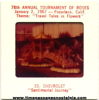(63) 1967 78th Annual Tournament Of Roses Parade Float Color Photo Slides