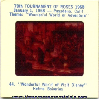 (30) 1968 79th Annual Tournament Of Roses Parade Float Color Photo Slides