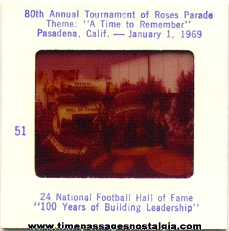 (60) 1969 80th Annual Tournament Of Roses Parade Float Color Photo Slides
