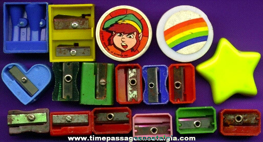 (17) Colorful Pencil Sharpeners