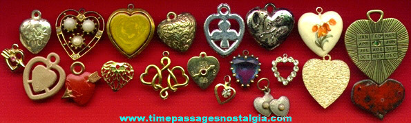 (20) Small Valentine And Heart Charms