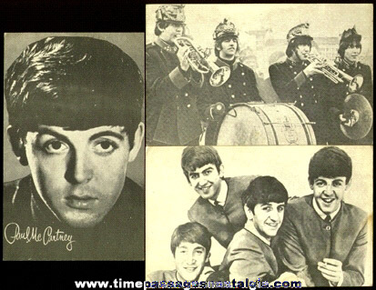 (3) Old BEATLES Arcade Exhibit Trading Cards