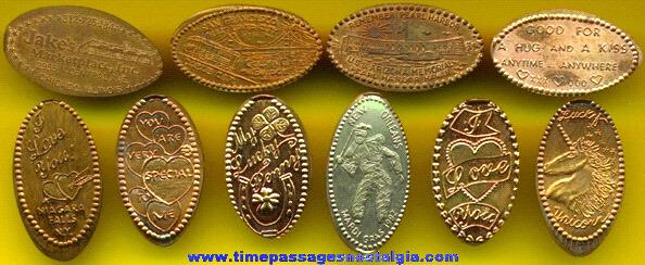 (10) Different Souvenir Elongated Cents