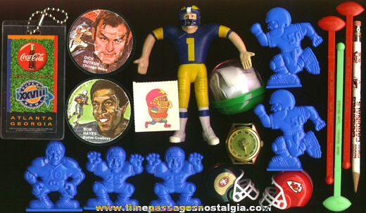 (18) Different Small Football Items