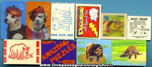 (10) Old CRACKER JACK Prize / Premium Paper Series Toys
