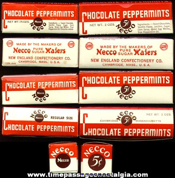 (2) Old NEW ENGLAND CONFECTIONERY COMPANY Chocolate Peppermints Candy Boxes