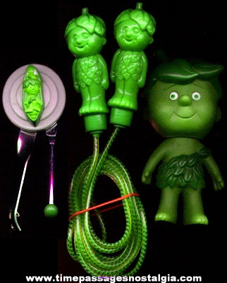 (3) Green Giant Little Sprout Advertising Character Premium Items