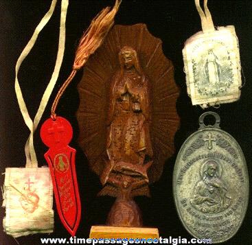(4) Old Catholic / Christian Religious Items
