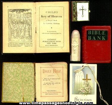 (6) Old Catholic / Christian Religious Items