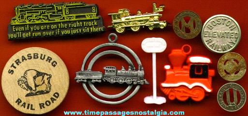 (10) Small Train / Railroad Items