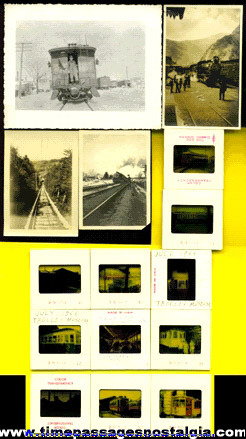 (15) Old Train / Railroad Photographs & Slides