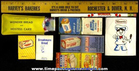 (9) Old Bread Advertising Items