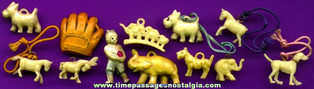 (12) Early Celluloid Charms