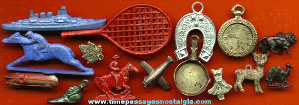 (15) Old Pot Metal (lead) Cracker Jack Premium / Prize Toys
