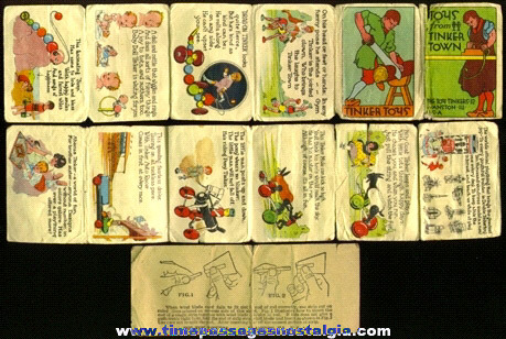 (2) Small Old TINKER TOYS Paper Items
