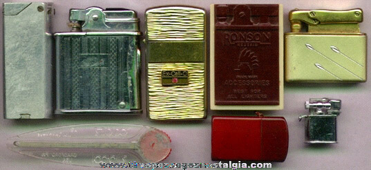 (8) Old Cigarette Lighters And Accessories