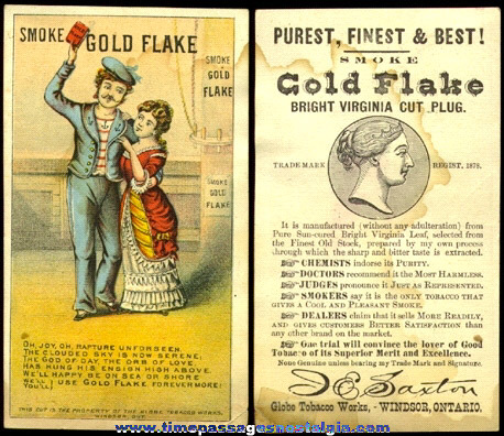 (9) Small Mixed Old Tobacco Related Advertising Items