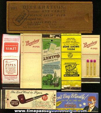 (9) Smoking Pipe Advertising Items