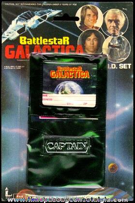 ©1978 Unopened Battlestar Galactica Toy Captain Wallet