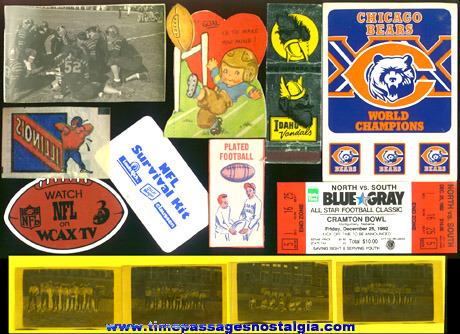 (13) Small Football Related Items