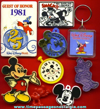 (9) Walt Disney Mickey Mouse Items
