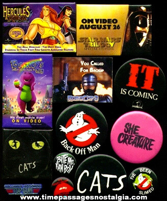 (13) Movie & Theatre Promotional Advertising Buttons