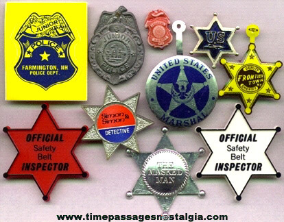 (10) Toy Police Badges