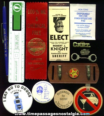 (13) Small Police Related Items