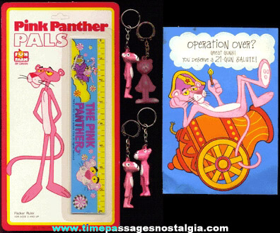 (6) PINK PANTHER Items