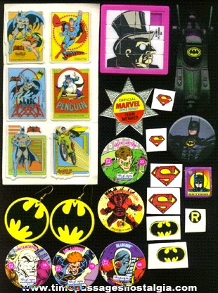 (20) Small Super Heroes Items