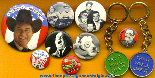 (10) Small Old Television Show / Character Items