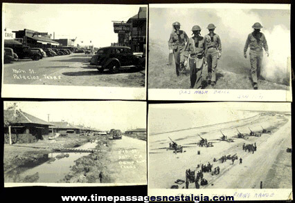 (19) WORLD WAR II CAMP HULEN, TEXAS Photographs