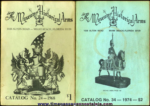 (2) Old MUSEUM OF HISTORICAL ARMS Catalogs