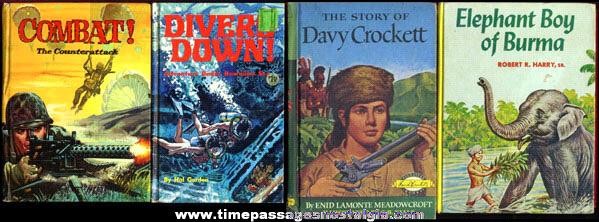 (4) Old Hard Back Adventure Books