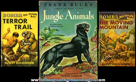 (3) Old Jungle Adventure Books