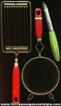 (3) Old Kitchen Utensils