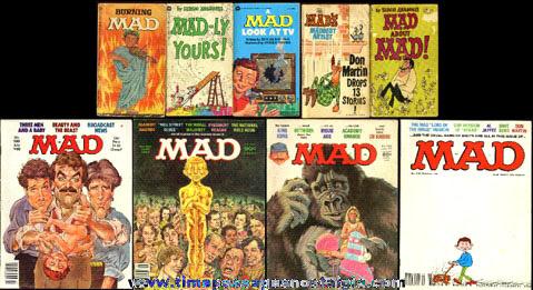 (9) MAD Magazines & Books