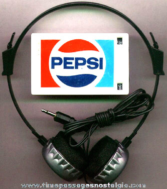 �1983 PEPSI - COLA Advertising AM Radio & Headset