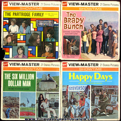 (4) 1970's Television Show View Master Packets