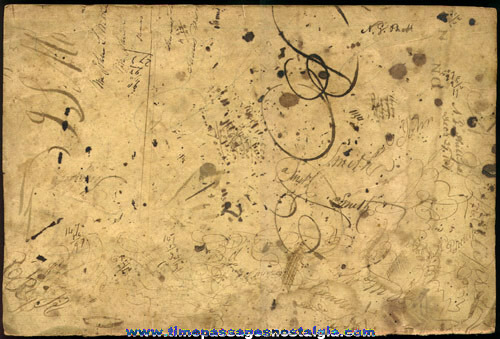 (2) Large 2-sided Ink Blotter Panels With Signatures and Dates