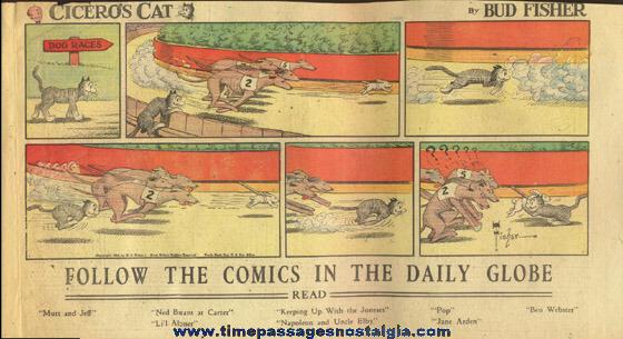 (15) Different ©1935 CICERO'S CAT Newspaper Color Comic Strips