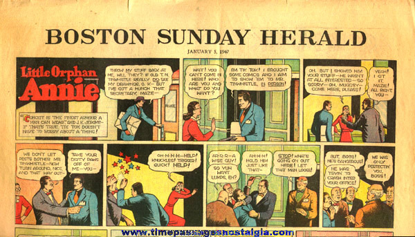 January 5th, 1947 Boston Sunday Herald Newspaper Color Comic / Cartoon Section
